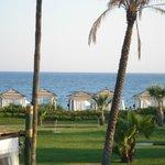 Ausblick auf die Pavilions und den Strand
