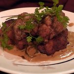 Veal liver with mushroom sauce