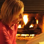 In winter relax with a good book by the log fire