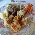 Oceano restaurant across from BSM - lobster dinner 12 cuc