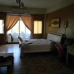 sleeping area with balcony