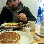 delicious blueberry pancakes!
