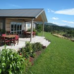 View from the garden of Kaimai Country Lodge