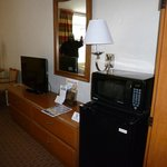 bureau area with flat screen tv