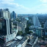 A Bangkok City view from our suite on 29th floor.