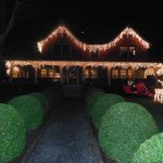 The home was cheerfully decorated for Holiday cheer