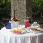 Breakfast on my private balconey.