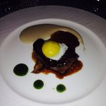 2 oz beef steak from the tasting menu.