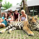 Hanging with Mike the tiger!