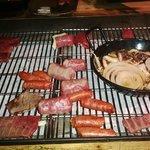 Barbacoa japonesa con opción a marisco, carne y verduras