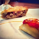 Our special Apple Tart with Home-Made Vanilla Ice Cream