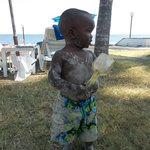 Muiruri jr at the beach