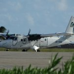 The plane that flew us from Barbados to Union Island