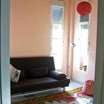 Stanza con terrazza: il sofa può trasformarsi in letto matrimoniale