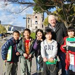 Being interviewed by Japanese children about World Peace lifts my mood
