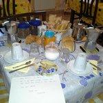 wonderfull breakfast and sign of hospitality