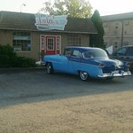 55 Packard and a Diner.....a great combination!