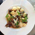 Mushroom gnocchi with truffle oil