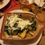 Potatoes, spinach and chili