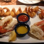 Ultimate feast with double fried shrimp