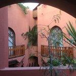upstairs room windows/balconies