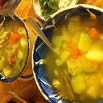 Caldo tlalpeño y vegetariano
