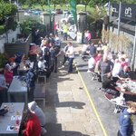 Walkers returning to enjoy the food and drink at O'Hares