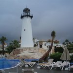 light house in pool area