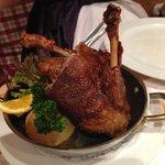 Ofenfrische Ente