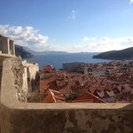 View from city walls to Adriatic Sea
