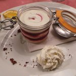 Fromage blanc au fruits rouges