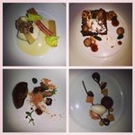 Courses from the chef's tasting menu