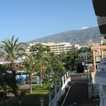 View from the balcony to the mountainss