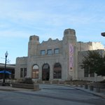 The old Tulsa Union Depot (now Jazz Depot). Look for this building if approaching off Archer St.