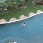 View of the swim up suite from the third floor