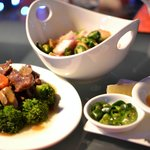 Beef with Mushroom & Condiments