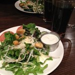 Salad with house bleu cheese dressing