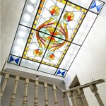 Stain glass ceiling