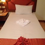 single beds-double room