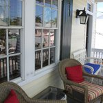 Front balcony-windows to Gypsy Mermaid room.
