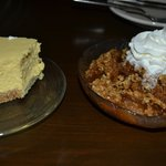 Cranberry Apple Crisp and Bailey's Cheesecake