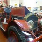 One of the old fire engines on display