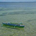 桟橋からボート