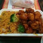 The General Tso's Chicken Combination Plate