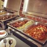 Breakfast buffet trays