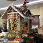 Breakfast buffet with Ginger bread decor