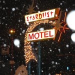 Spectacular sign, modest but wonderful motel.