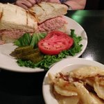 Ham Salad Sandwich with Scalloped Potatoes