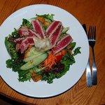 Sesame crusted seared Ahi salad