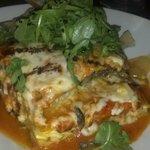 Lasagna to die for, huge portion